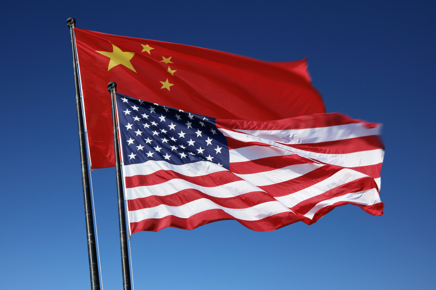 China And US Flag