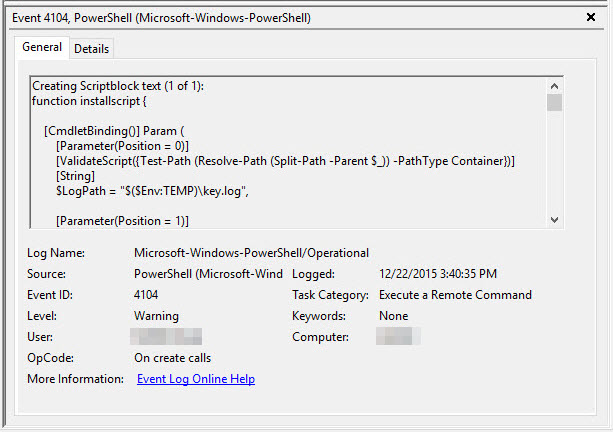 Investigating PowerShell: Command and Script Logging »