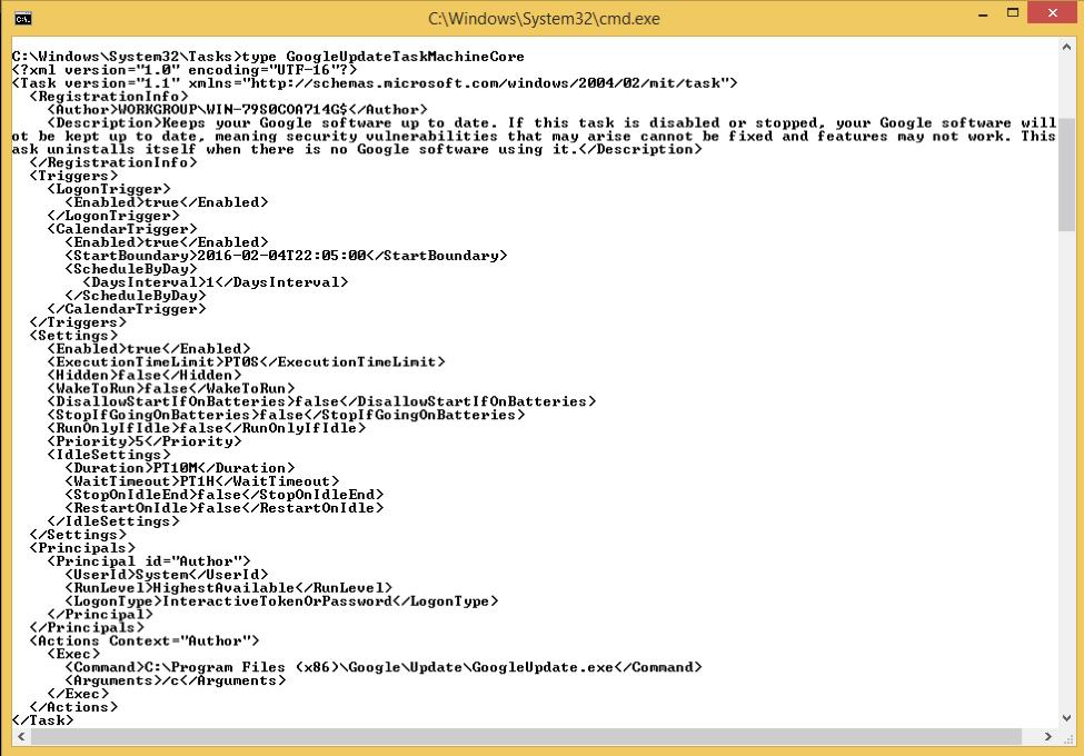 xml file captures
