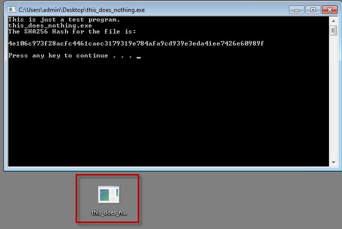 Sample File Execution
