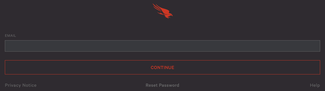 Falcon Login Screen
