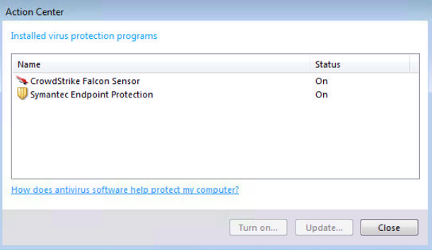 Windows Action Center