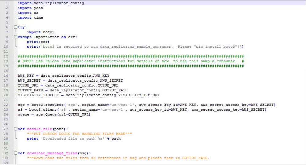 data replicator consumer script