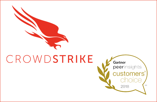 CrowdStrike Logo And Gartner Peer Insights Logo