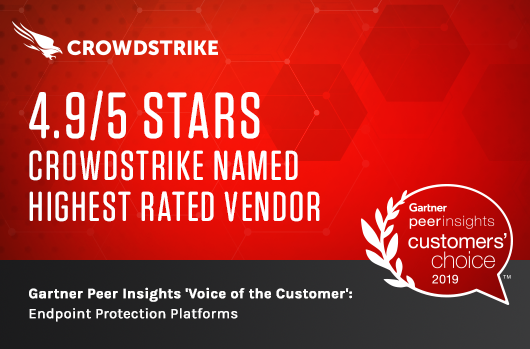 "Gartner Peer Insights ""Voice Of The Customer"" For Endpoint Protection Platforms Speaks Volumes For CrowdStrike"