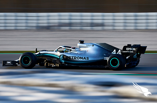 CrowdStrike's Mercedes F1 Car