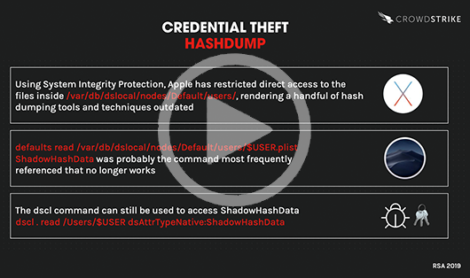 Mac Attacks Along The Kill Chain: Credential Theft [VIDEO]