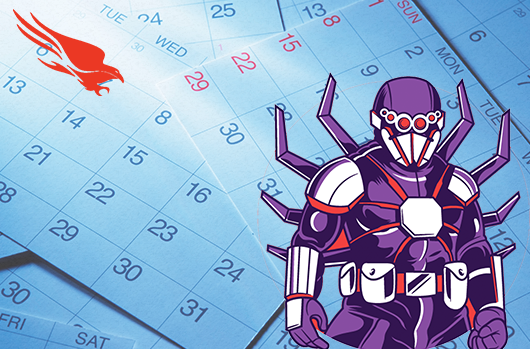 Calendar With SPIDER ADVERSARY Figure