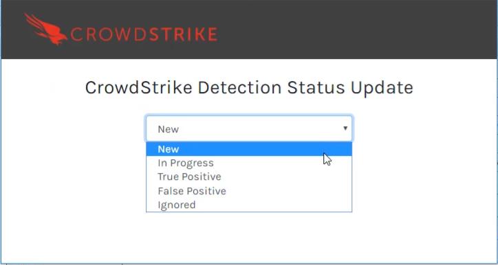 status de detecção qradar