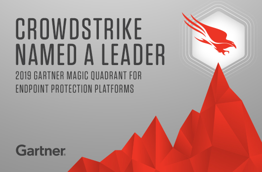 "CrowdStrike Positioned As A Magic Quadrant ""Leader"" And Furthest For ""Completeness Of Vision"" In The 2019 Gartner Magic Quadrant For EPP"