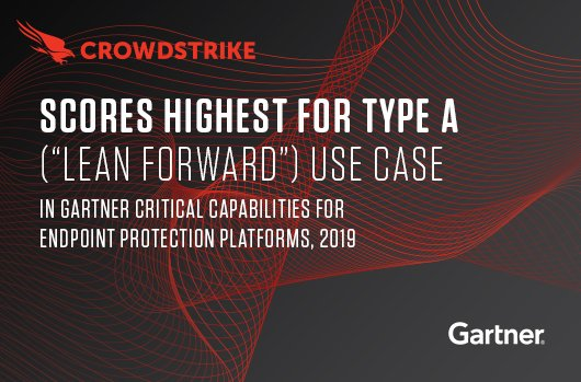 CrowdStrike banner for Gartner Critical Capabilities for EPP