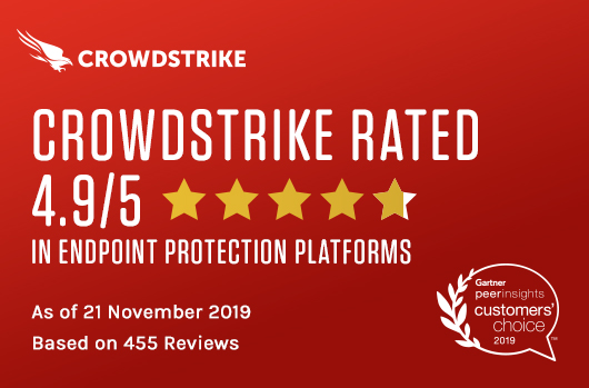 For The Second Year In A Row, CrowdStrike Has Highest Overall Rating Among Vendors Named A November 2019 Gartner Peer Insights Customer's Choice