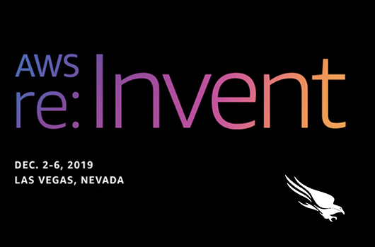 banner for AWS re:Invent conference