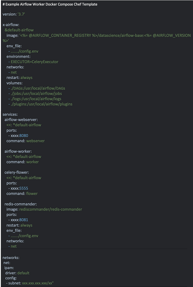 code on black background
