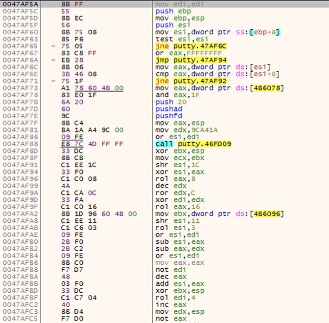 picture of code using different colors and highlights