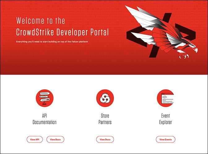 CrowdStrike dev portal UI