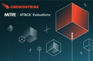 boxes floating with MITRE and CrowdStrike logos
