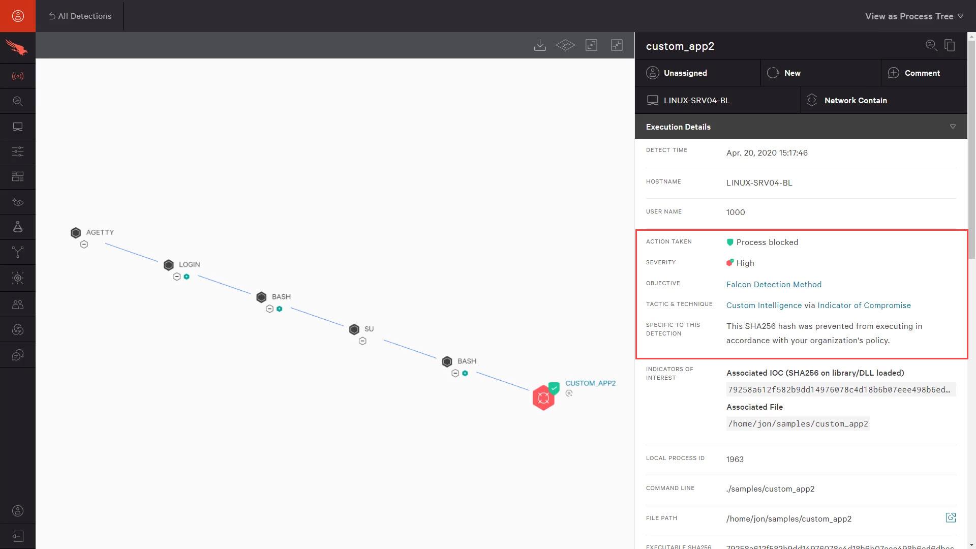 linux hash IOC detection