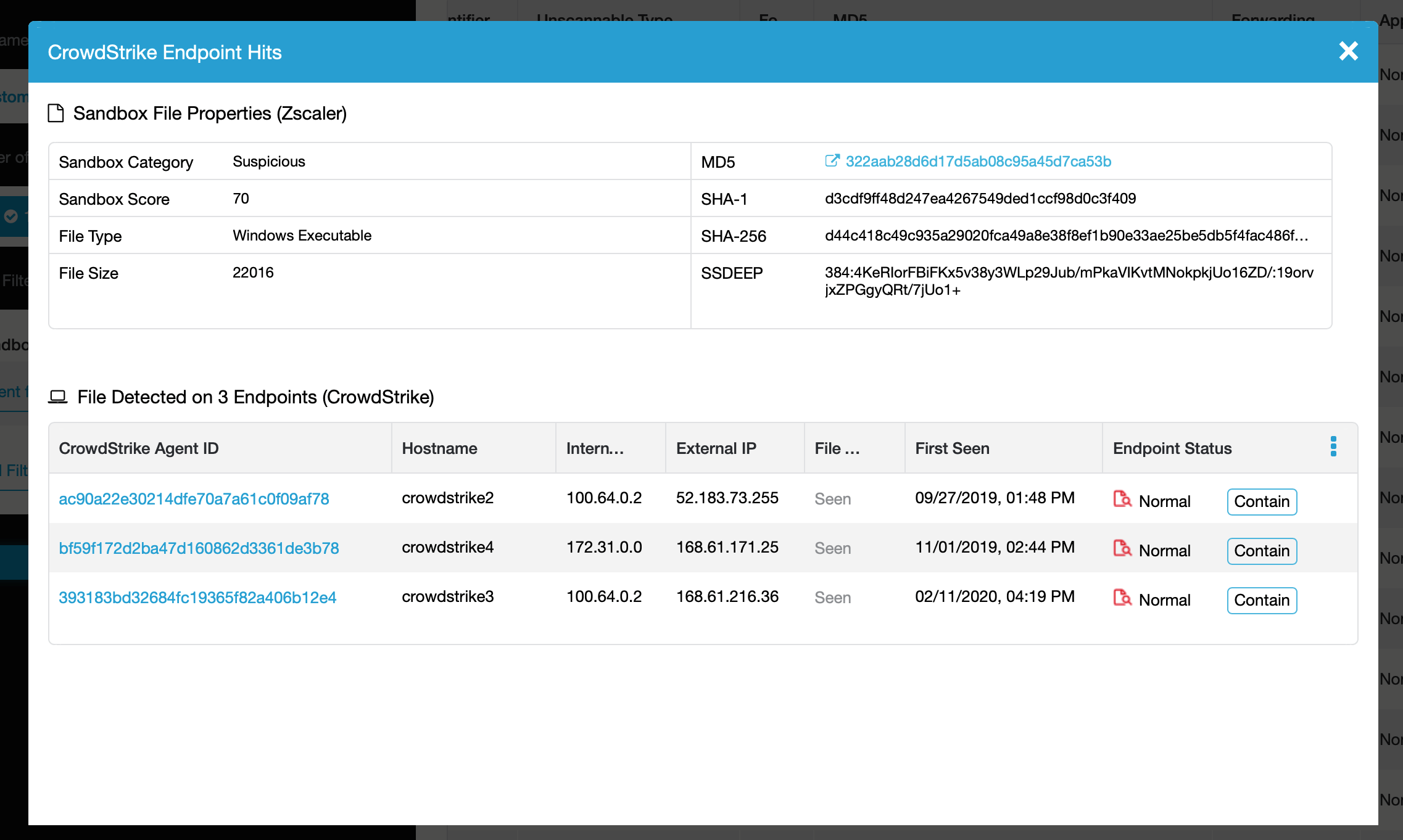 zscaler endpoint 3 hits