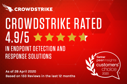 CrowdStrike Receives Highest Overall Score In Gartner Peer Insights For EDR For The Second Year In A Row