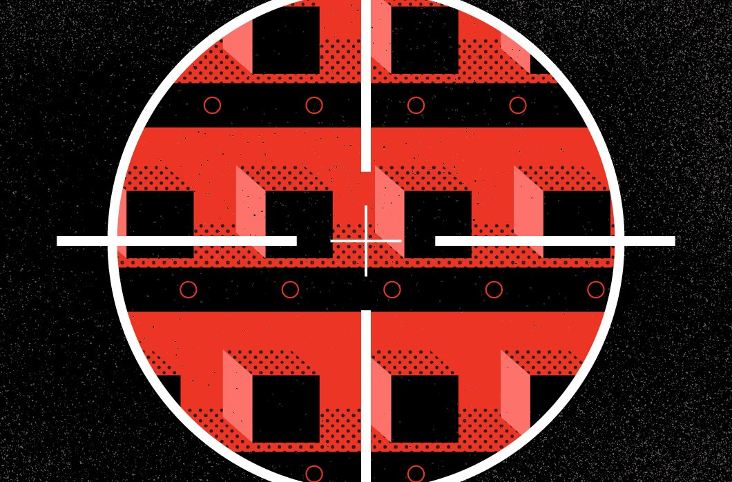 target over red and black squares