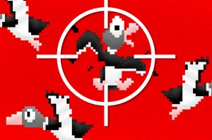 illustration of duck in crosshairs