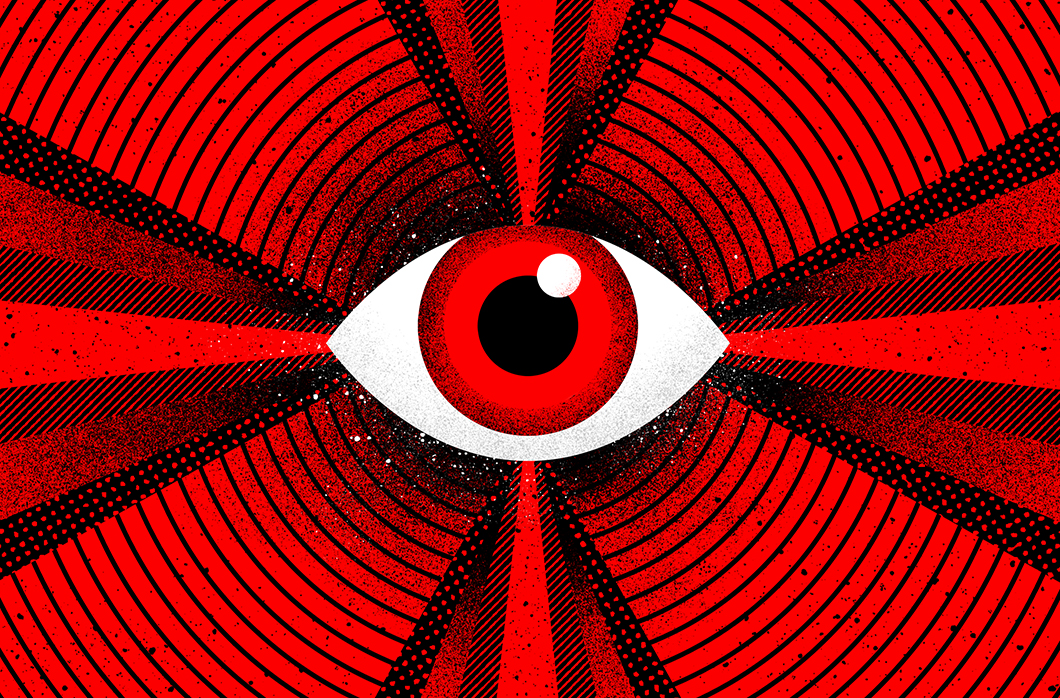 illustration of eye