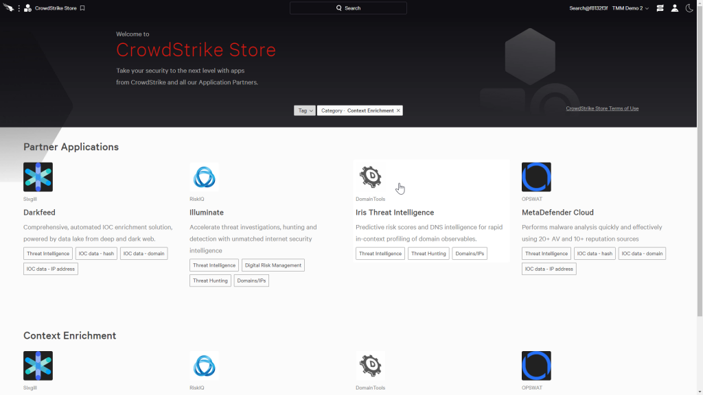 CrowdStrike Store with Context Enrichment