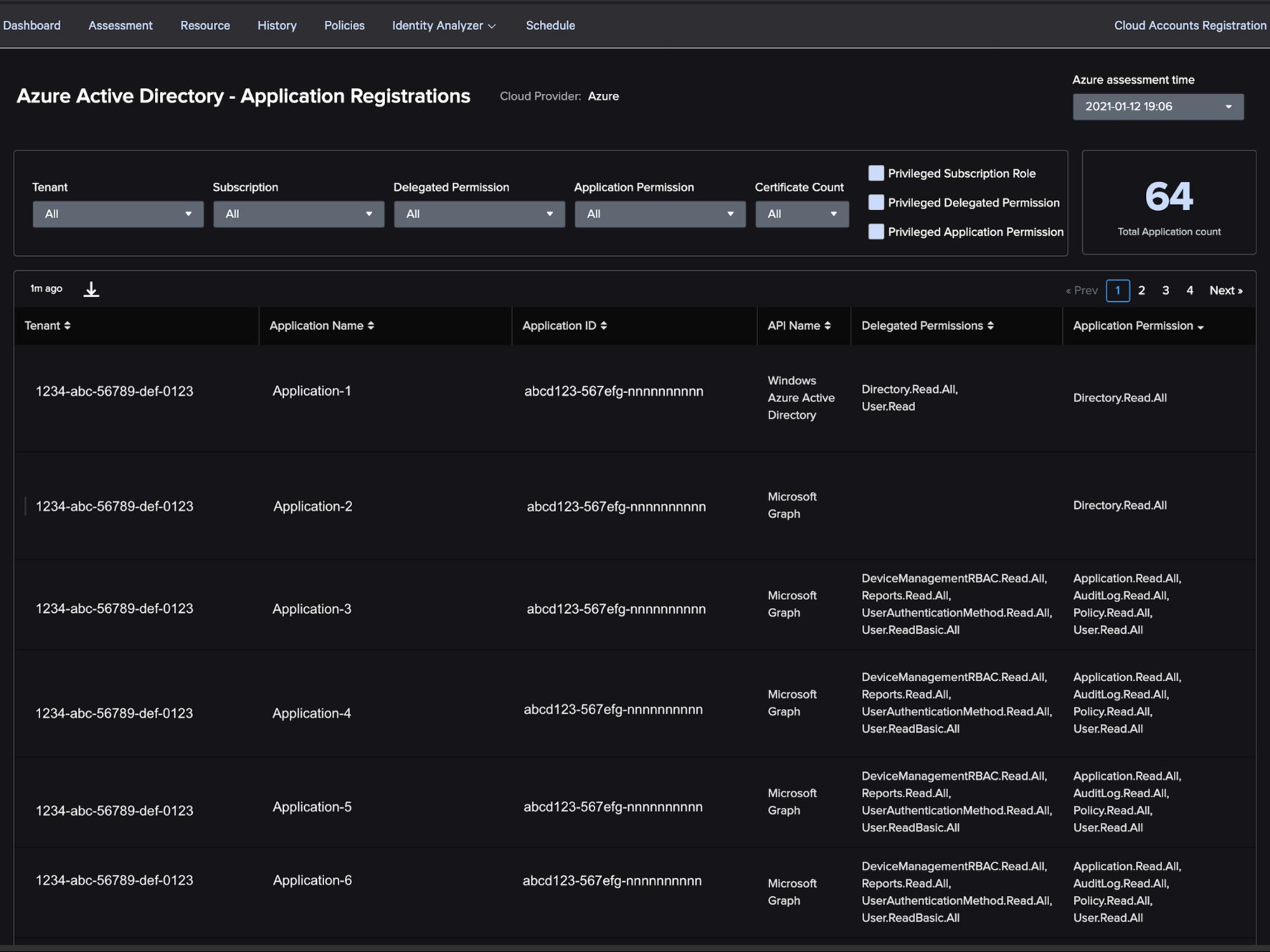 Azure AD app registrations