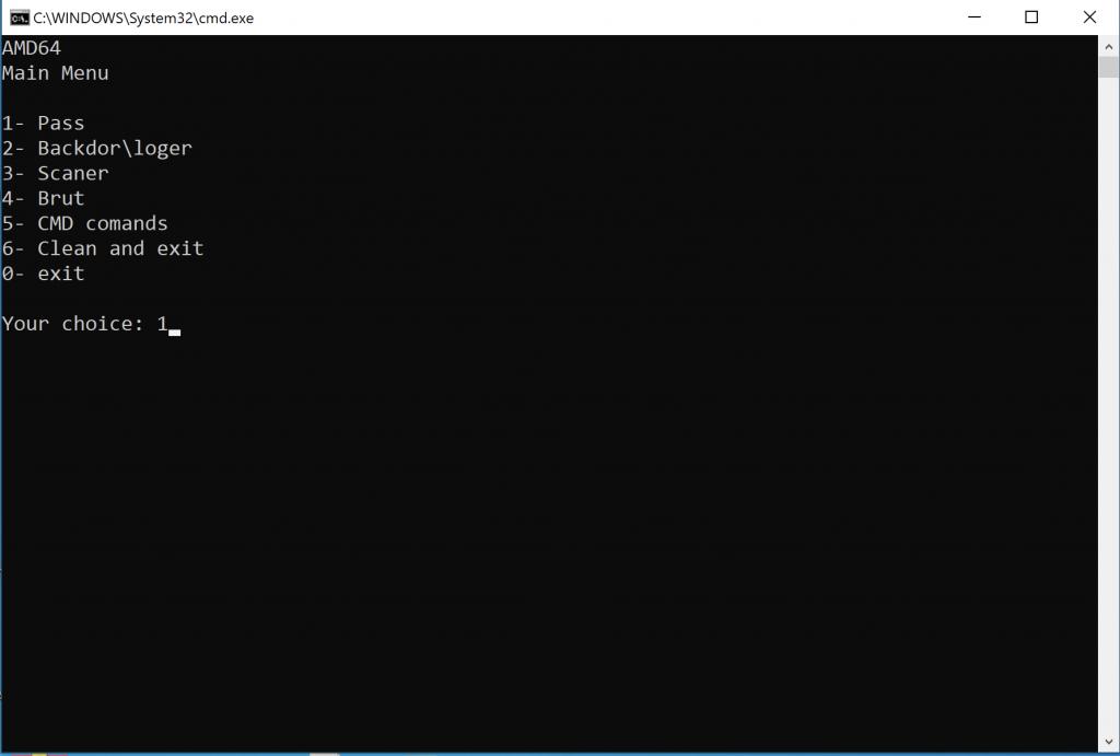 Cmd.exe screen