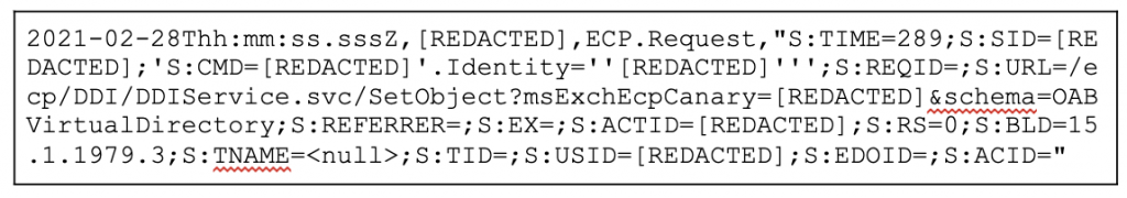 Figure 18. ECP Server Log