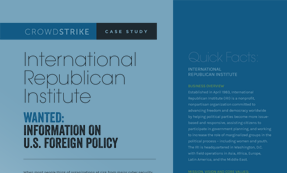 CASE STUDY: INTERNATIONAL REPUBLICAN INSTITUTE