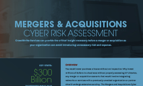 Mergers & Acquisitions – Cyber Risk Assessment