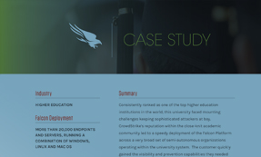 CASE STUDY: HIGHER EDUCATION