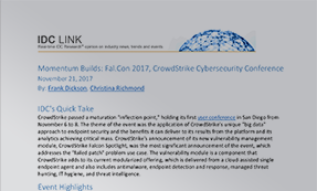 IDC Vendor Profile: CrowdStrike