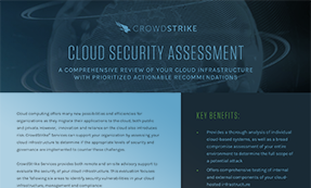 Cloud Security Assessment Datasheet