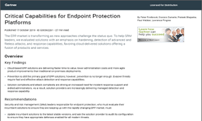 Gartner Critical Capabilities For Endpoint Protection Platforms (EPP)