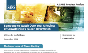 SANS Product Review: CrowdStrike Falcon OverWatch