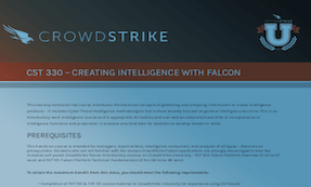 CST 330: Course Syllabus | CrowdStrike University