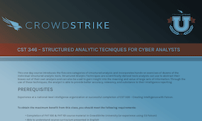 CST 346: Course Syllabus | CrowdStrike University