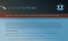 CST 351: Course Syllabus | CrowdStrike University