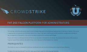 FHT 200: Course Syllabus | CrowdStrike University