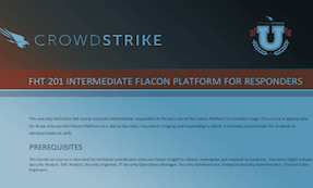 FHT 201: Course Syllabus | CrowdStrike University