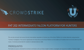 FHT 202: Course Syllabus | CrowdStrike University