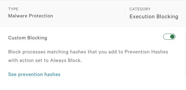 Enable custom blocking