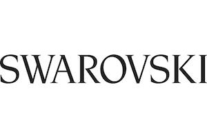 black and white swarovski logo
