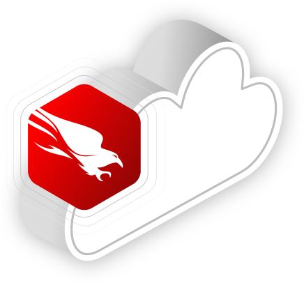 Crowdstrike Falcon Icon on a cloud