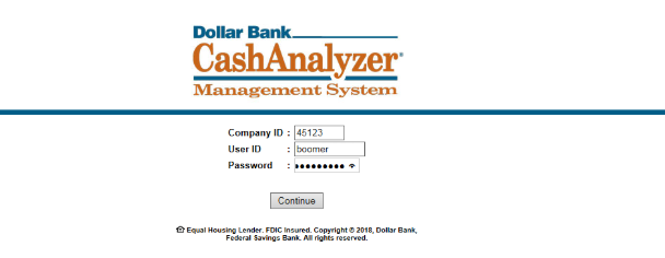 Example of a BokBot Webfake Login Page