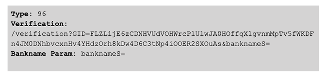 BokBot Proxy: Type 96 banknameS request code