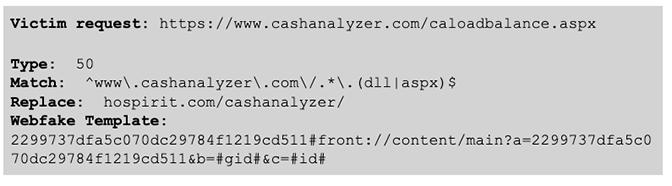BokBot Proxy: Victim request code